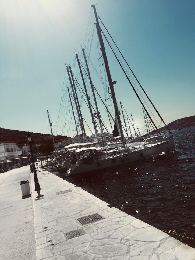 #greece #boat #ocean #myownpic