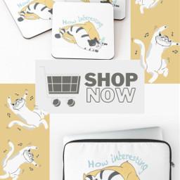 freetoedit 2021 cartoon trending pet aesthetic cute yellow sleepy quote catlovers coaster pillow cats catlady laptop laptopsleeves catmerch smallbusiness korean minimalistic memecat boredcat canada usa