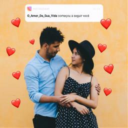mensagem instagra notificação notificações popup replay amor casal picsartreplay freetoedit