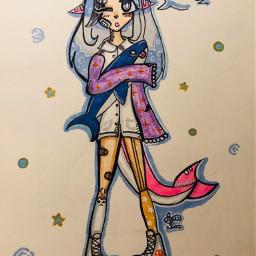 art interesting draw drawing sea shark sharkgirl lizzappp lizzappp_лучшая contest