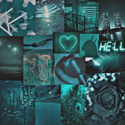fundo background collage aesthetic tumblr darkteal verdeaguaescuro tealvibes freetoedit