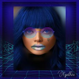 blue stars surrealism portrait glasses eyecolor haircolor blureffect editbyme freetoedit srcgentlebluestars gentlebluestars