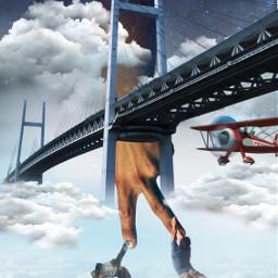 desafio challenge maodapaz ponte nuvens salvaçao socorro brigde noite night airplane aviao freetoedit ircpeacesign peacesign