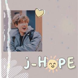 freetoedit bts bangtansonyeondan kpop idol junghoseok jhope hobi edit aesthetic white purple pink orange red blue yellow green brown black