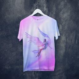 ангел обработка_стикерами обработкастикерами голубой розовый freetoedit ircdesignthetee2021 designthetee2021