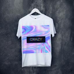 crazy неон футболка freetoedit ircdesignthetee2021 designthetee2021