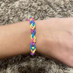 pansexualflag rubberbandbracelets