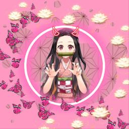 freetoedit nezuko nezukokamado demonslayer anime pfp