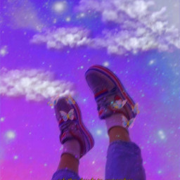 freetoedit aesthetic madebyme sky glitter legs aestheticedit galaxy motion motionblur butterfly clouds heypicsart picsart replay picsartreplay makeawesome madewithpicsart
