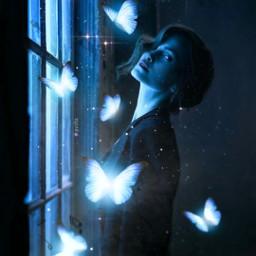butterfly butterflies blue surreal surrealism makeawesome heypicsart papicks picsart madewithpicsart glitter girl aesthetic blueaesthetic light music photoshop freetoedit