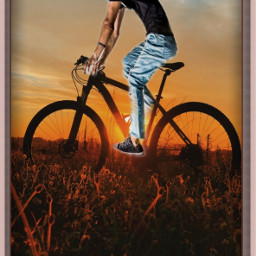 man bicycle nature field editbyme ircelevating elevating