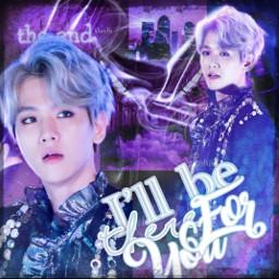 kpop contest baekhyung exol bts aesthetic remixit purple sad