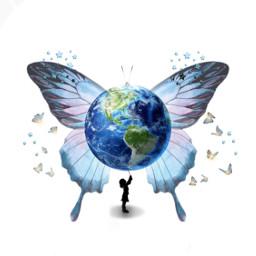 girl butterfly stars world srcgentlebluestars gentlebluestars freetoedit