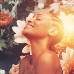 freetoedit flowers girl light