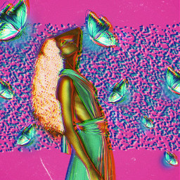 freetoedit replay picsartreplay replayedit replayaesthetic negative neon cyber colorpop paint picsarteffect creative aesthetic madewithpicsart myedit makeawesome visualart woman butterflies mask imagineabrighterreality surreal