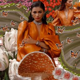 freetoedit zendaya orange zendayacoleman zendayaedit newdescription