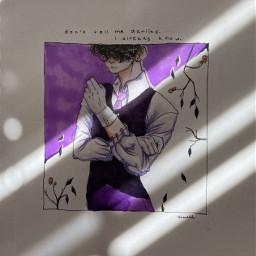 art draeing purple black light dark lighting sketch final suit gloves blackhair pretty flower deeppurple royalpurple