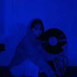 kpop blueaesthetic freetoedit
