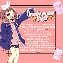 freetoedit mhaheadcanons mhaheadcanon mha bnha bnhaheadcanon bnhaheadcanons anime animegirl animegirls ochakouraraka urarakaochaco kid urarakakkid