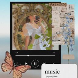 freetoedit picsart music vintage aesthetic woman women girl follow haveaniceday