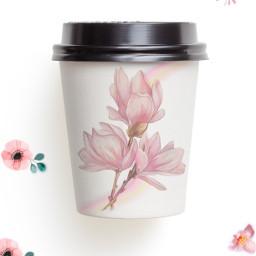 цветы flowers pink розовый зеленый green nature природа стакан дизайн voteforme freetoedit ircdesignthecup designthecup