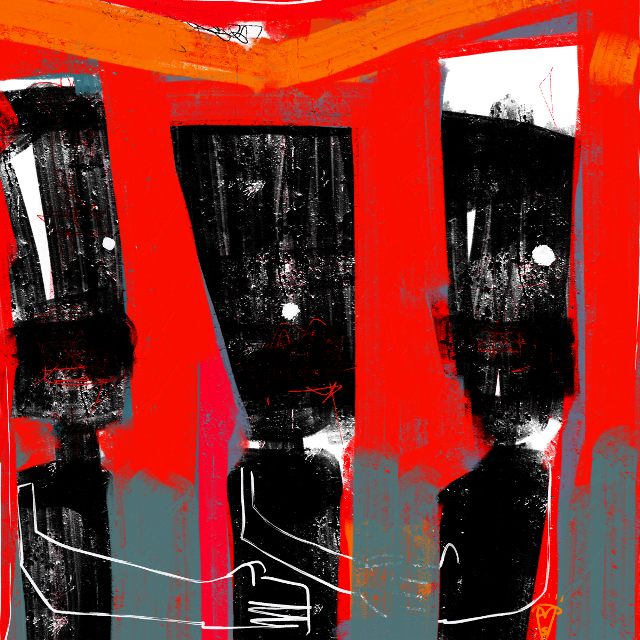 """""""Colleagues"""" Digital Painting 12x12 #art #artist #abstractart #sonnyleel #sonnythesaint"""