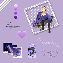freetoedit taemin shinee taeminshinee shineetaemin edit aesthetic purple flowers love white pantone