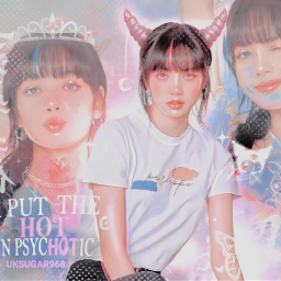 lisa manoban lalisa blackpink fancy lisamanoban pink horns light kpopedit kpop soft fantasy aesthetic filter girl kpopidol korean singer      uksugar singer