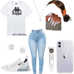 freetoedit kappa white dior cute simple jeans lipgloss black trendy fashion style