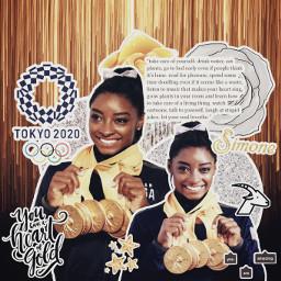 freetoedit collage complexedit simonebiles simone olympics tokyo2020 tokyo gymnastics silvermedal goldmedal