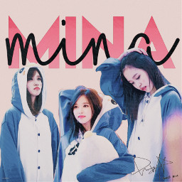 mina twice minatwice blue white pink red cute aesthetic black pretty minari minaritwice freetoedit