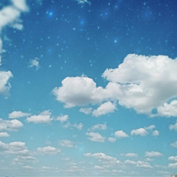 небо облака звезды freetoedit