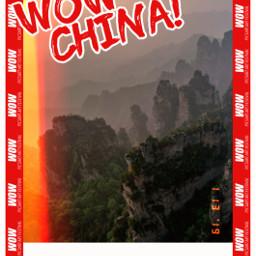 freetoedit heypicsart china wow wowchina travel travelposter poster hills mountains follow haveaniceday unsplash