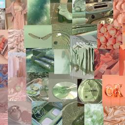 sagegreen dustypink peach desktopwallpaper collageaesthetic