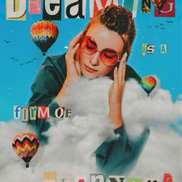 fccelebrateyourcreativity celebrateyourcreativity madewithpicsart madebyme myedit colorful clouds girl dream sky airballoon