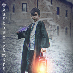 harrypotterworld magic boy lantern castle winter snowing wizard
