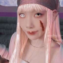 freetoedit taeyeon soloist kawaii goth manipulation edit aesthetic pink