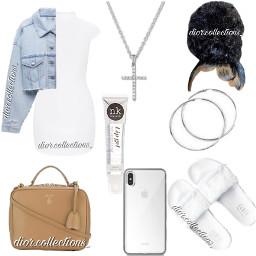 freetoedit white diorcollections dior denim simple cute pretty trendy dress slides bun