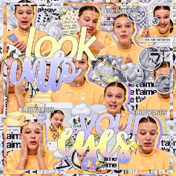 milliebobbybrown millie bobby brown mmb strangerthings cloudydaisies complexedit complex edit yellow lookintoyoureyes talent freetoedit