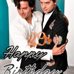 felizcumpleaños happybirthday 29años 29 colesprouse dylansprouse cole dylan freetoedit