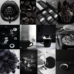 collage balck asthetic astheticcollage astheticollages cute blackcollage madebyme madewithpicsart picsart