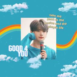 freetoedit leeknow leeknowstraykids straykids skzleeknow skz rainbow clouds aesthetic good4u