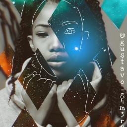 abstract blackwoman dark