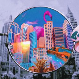fccelebrateyourcreativity celebrateyourcreativity magic lenses colorful surrealisticworld glasses yellowcab flamingo blackandwhite