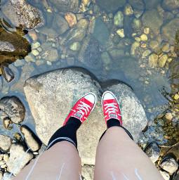 freetoedit rocks river outside nature explore lookingdown me