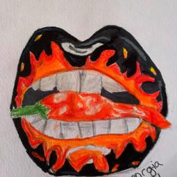 art pencilart drawinglips
