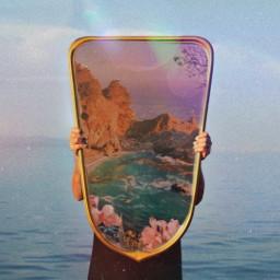 heaven likeforlikes mirror earth welcome sea ocean freetoedit ircmirrorreflection mirrorreflection