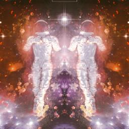 yours_awesomeness freetoedit spaceart spaceedit stars surreal surrealart surrealism fantasy astronaut starryedit glitter stardust