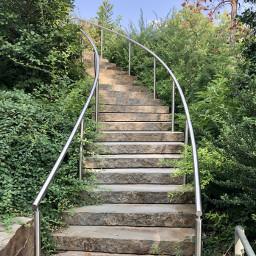 freetoedit stairs nature picsart