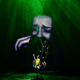 greenaesthetic underwater girldrowning sadness heypicsart challengepicsart pirasisproyo intotheocean greengirl freetoedit rcerroroccurred erroroccurred